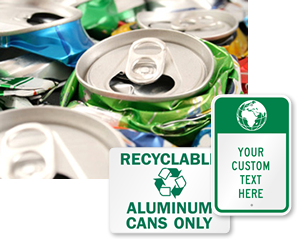 Aluminum Recycling Signs