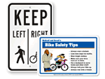 Bike Safety Signs