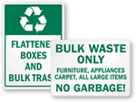 Bulk Trash Signs