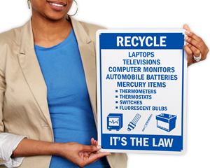Electronic Recycling Signs & Labels