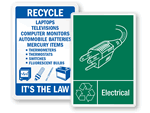Electronic Recycling Signs