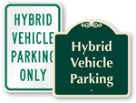 Hybrid Car Parking Only Signs
