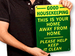 Keep It Clean & Housekeeping Signs
