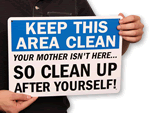 Keep Kitchen Clean Signs