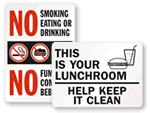 Lunchroom Signs