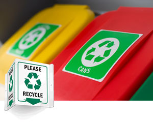 Projecting Recycling Signs