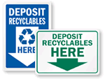 Recycle Here Signs!
