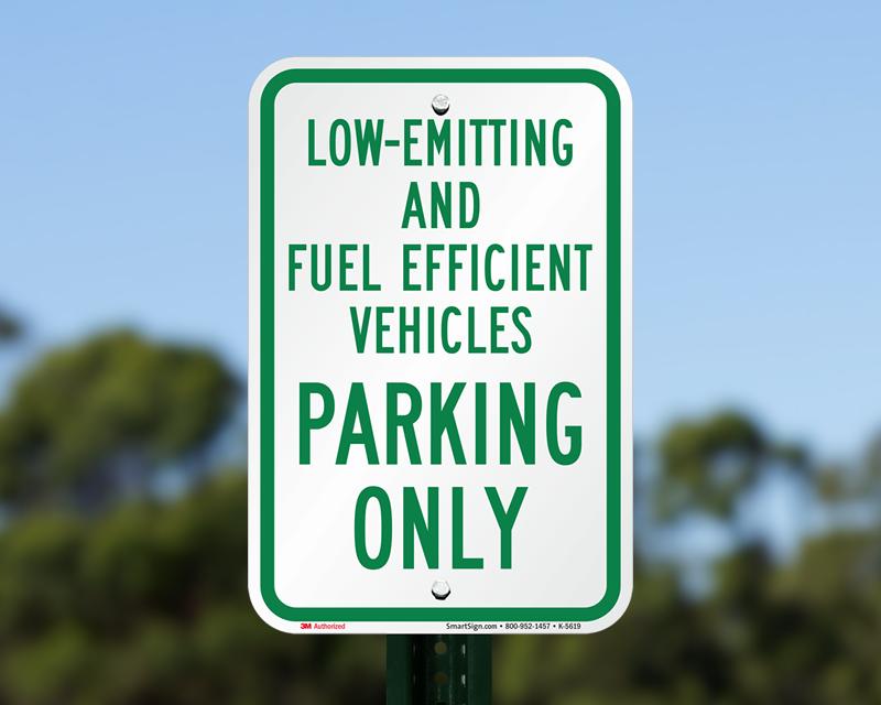 Fuel-Efficient Parking Signs