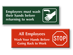 Engraved - Hand Washing Signs