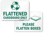 Flatten Cardboard Signs