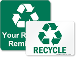 Free Recycling Signs