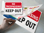 Security SignBooks™ : Keep Out & No Trespassing Signs