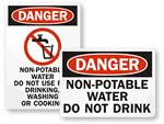 Non Potable Water Signs