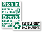 Non Recyclable Waste Signs