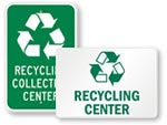 Recycling Center Signs