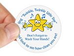 Hand Washing Stickers for Schools