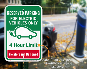Add a limit or tow away message to your EV signs