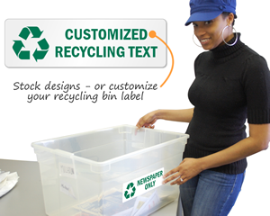 Recycling Bin Labels