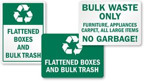 Bulk Trash Signs