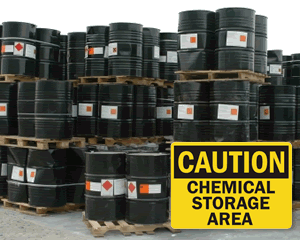 Chemical Storage Area Signs