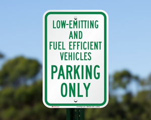 Fuel-Efficient Parking Signs