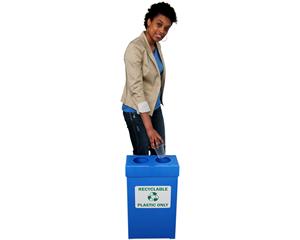Recycle plastic bottles label