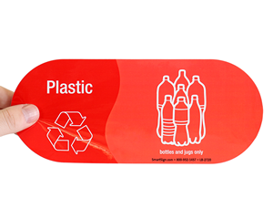 Recycle your plastic bottles sticker