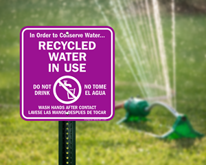 Recycled Water Signs