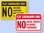 Flatten Boxes Labels & Signs