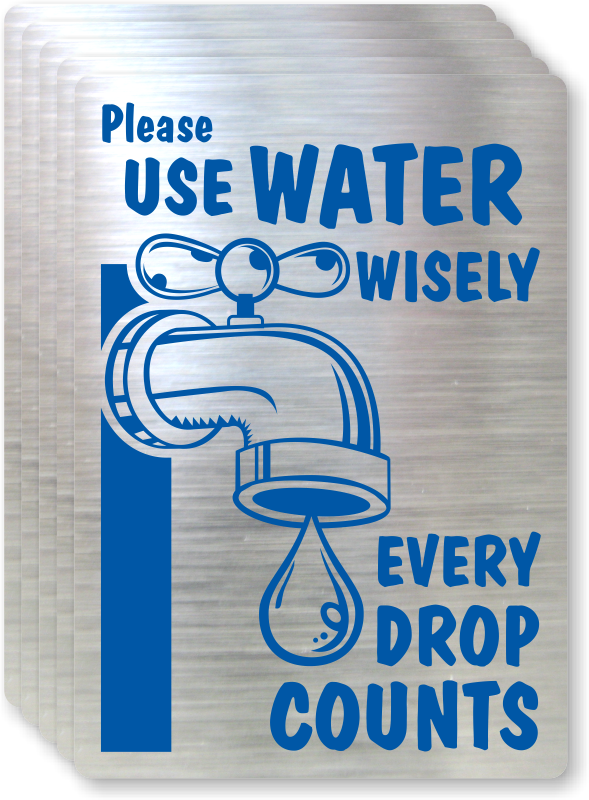 Please Use Water Wisely Sign - Conserve Water Sign, SKU: LB-1586