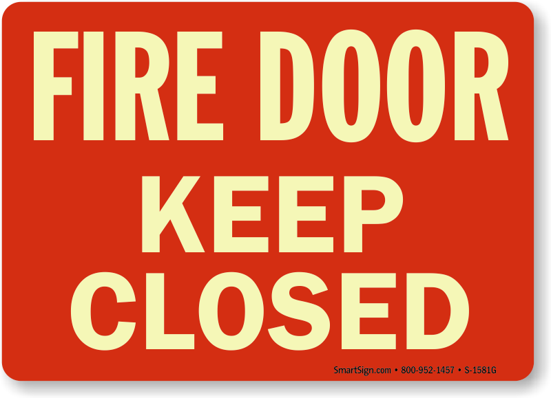 Fire Door Keep Closed Signs Fire And Emergency Signs Sku