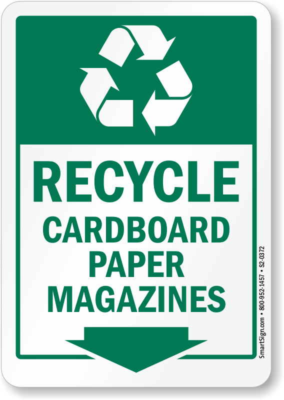 Paper Recycling Sign Recycle Paper Signs &a...