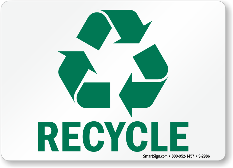 recycling signs amp recycle stickers free shipping