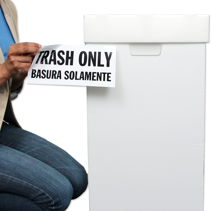 Trash Sign Basura Bilingual trash only basura