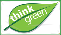 Think Green (Leaf Design) Banner