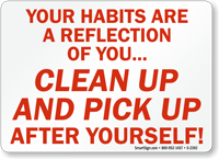 Your Habits Are Reflection Of You Sign