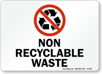 Non Recyclable Waste Sign