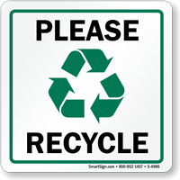 Please Recycle Sign (with graphic)