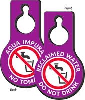 Reclaimed Water Do Not Drink Door Hang Tag