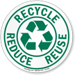 Recycle Reduce Reuse ISO Circle Sign