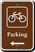 Parking Bike Bicycle Left Arrow Sign