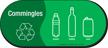 Commingles, Plastic, Bottles, Cans Vinyl Recycling Sticker