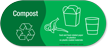 Compost, Food and Food-Related Paper Vinyl Recycling Sticker