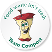 Food Waste Isn't Trash, Mac Apple Compost Sticker
