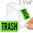Trash Shipping Packaging Label Dispenser