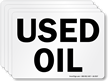 Used Oil Chemical Hazard Label