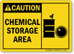 Caution: Chemical Storage Area (with graphic)