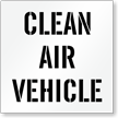Clean Air Vehicle Parking Lot Stencil