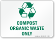 Compost Organic Waste Only Sign