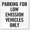 Low Emission Vehicles Parking Only Stencil